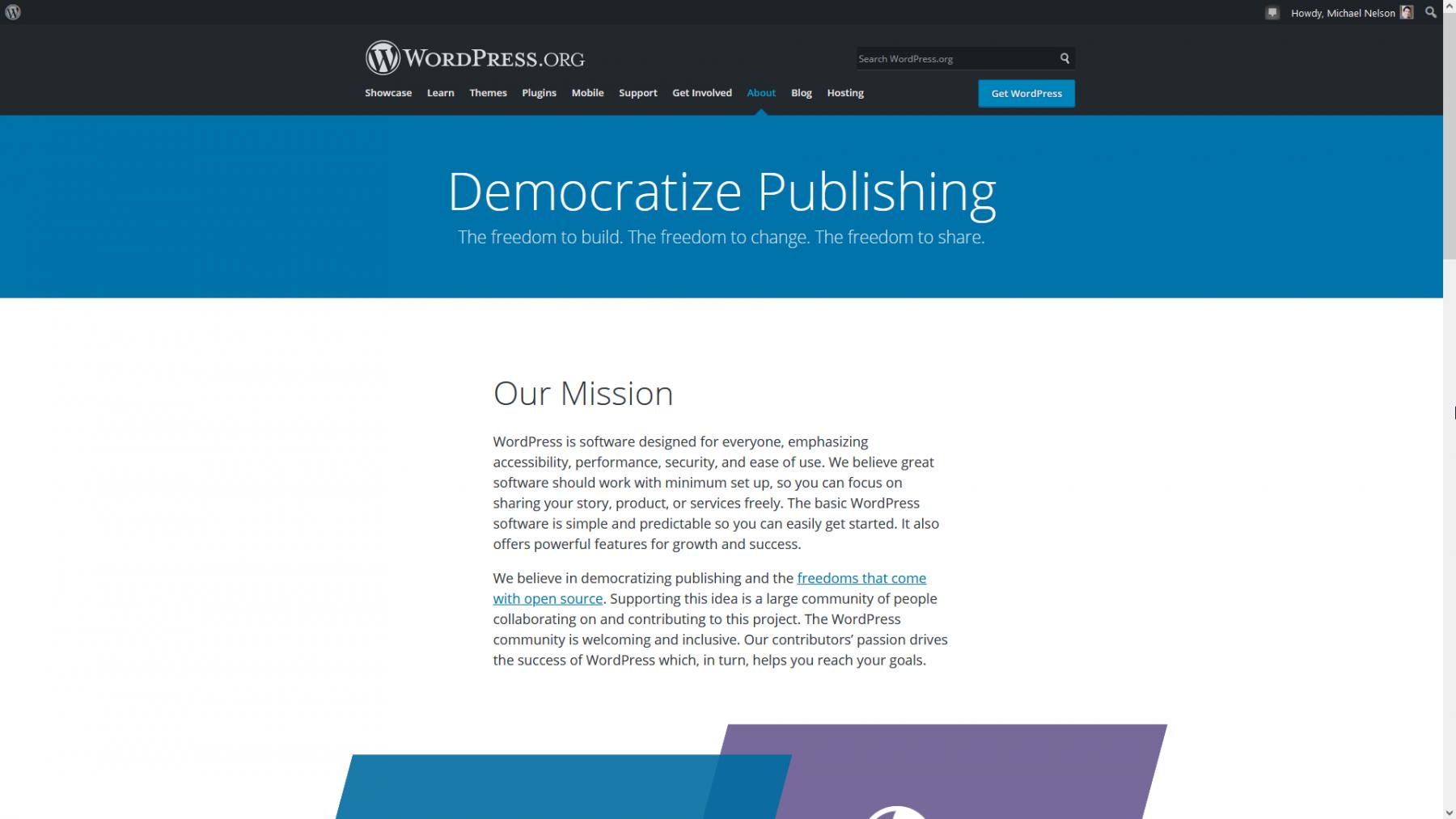 "WordPress' Mission is to ""Democratize Publishing"""